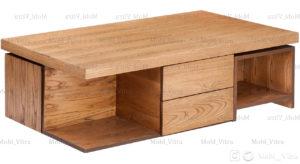 عکس میز جلو مبلی دو عسلی آلفا کد 1