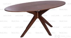 میز نهارخوری بیضی مالزی مدل کنان