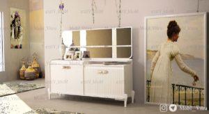 کنسول و آینه مدل هانا