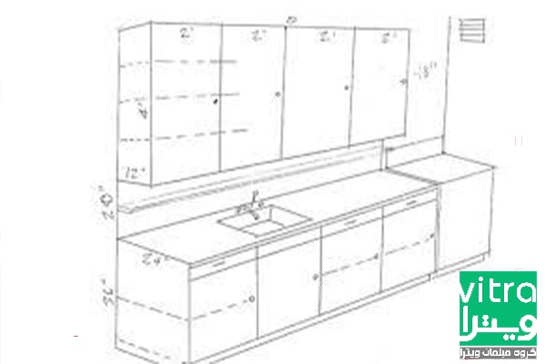 ابعاد استاندارد در دکوراسیون داخلی آشپزخانه