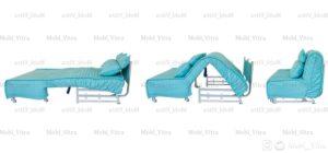 مبل تختخواب شو سیب مدل کاپری عرض 160 کد 4