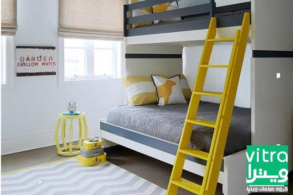 دکوراسیون اتاق خواب پسرانه با رنگ پر جنب وجوش
